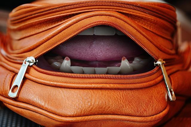 kabelka se zuby