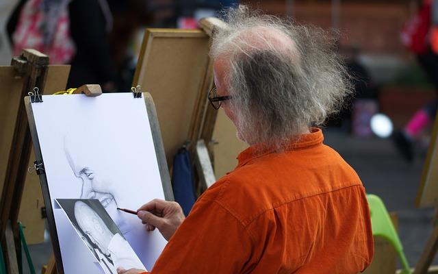 vlasatý umělec