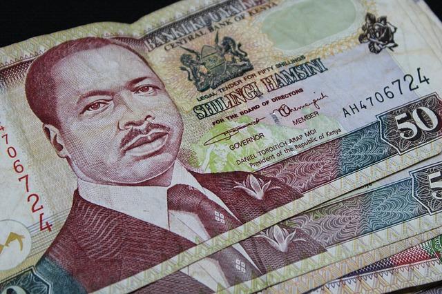 keňské bankovky – detail, portrét muže
