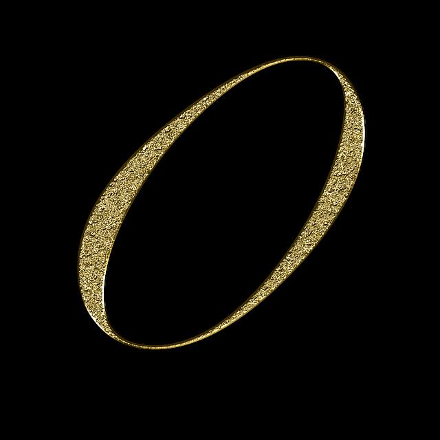 zlatá blýskavá číslice 0