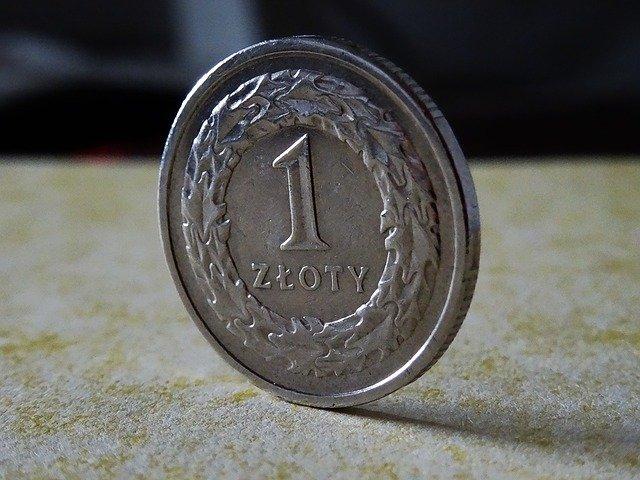 stříbrná mince, 1 zloty, polská měna